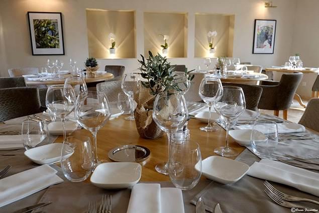 La table à la Villa Montesquieu