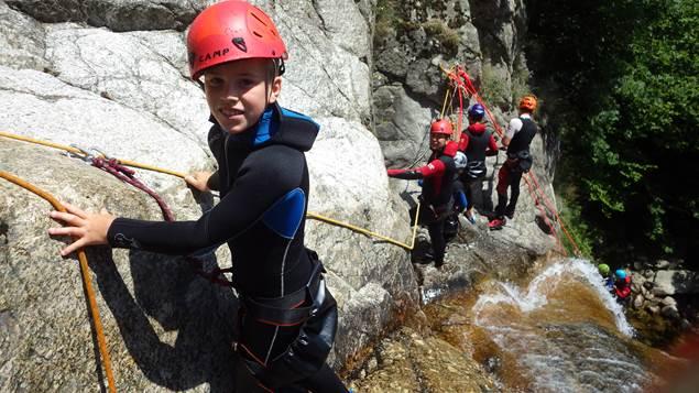 pierre et eau parcours canyoning