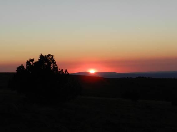 Mont Aigoual Cévennes Coucher de soleil