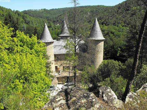 Voie Régordane - châteaux de Crouzas