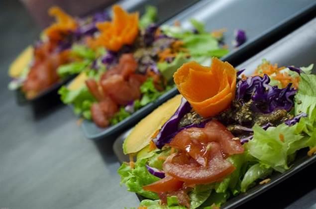 Restaurant l'Ô à la Bouche cuisine légumes frais