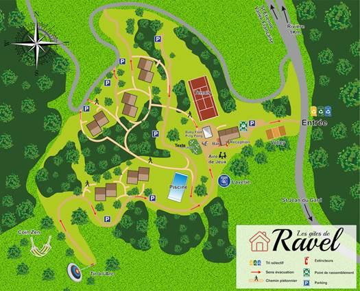 Plan les gites de Ravel