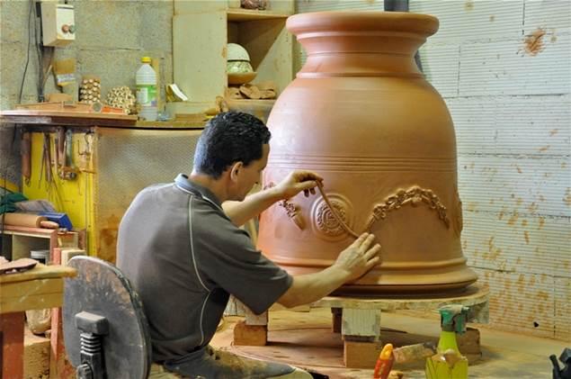 Potier Vase d'Anduze Chêne vert