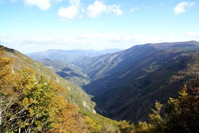 Panorama en Cévennes, vue du Col de la Serreyrède