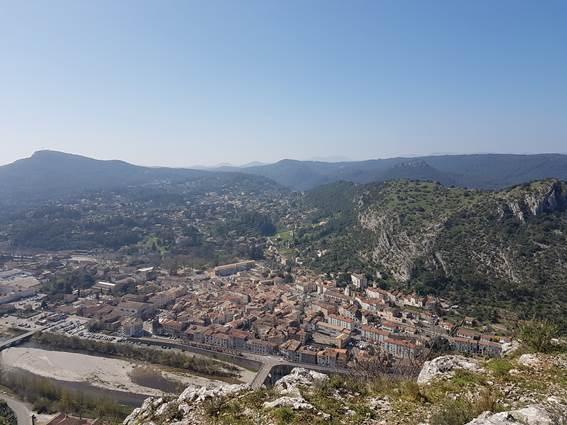 Rocher de Peyremale - vue sur Anduze