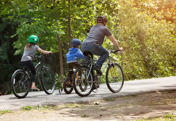 Vélo en famille en Cévennes