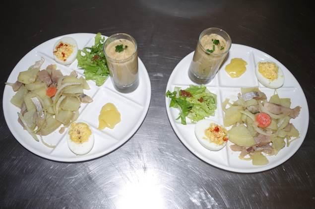 assiette repas bar des terrasses aux plantiers