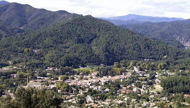 Vue Saint Jean du Gard en Cévennes