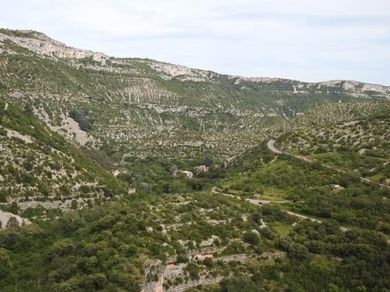 Panorama à la fin de la randonnée
