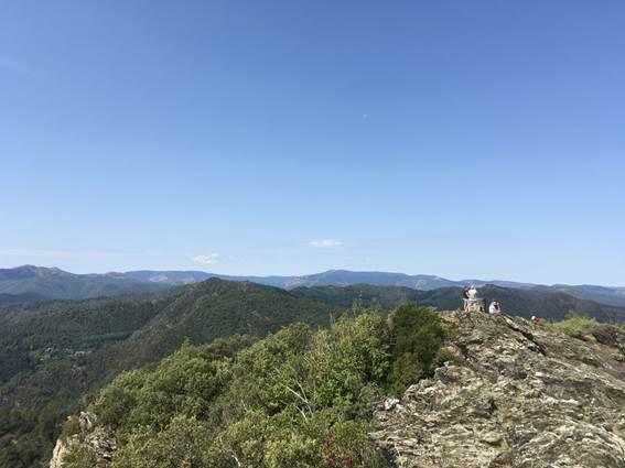 Signal de St pierre vue sur la Lozère