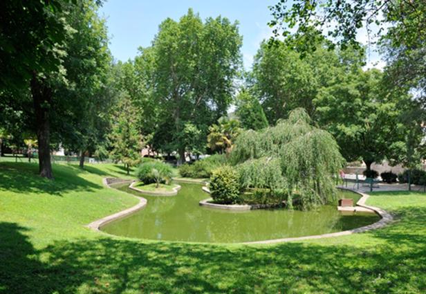 Ville d'Anduze : parc des cordeliers