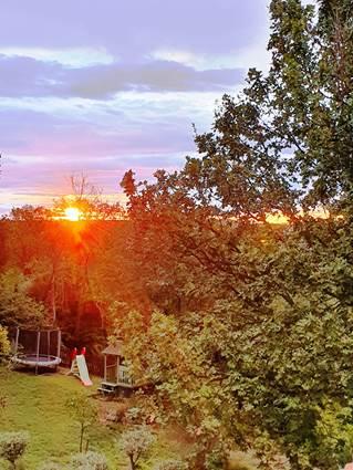 soleil levant sur le tranpoline
