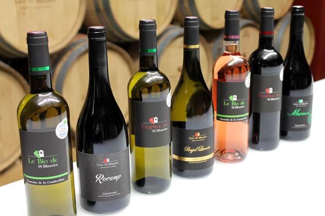 Cave St Maurice bouteilles de vins