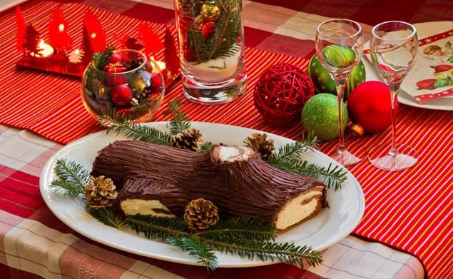 Bûche de Noël aux châtaignes - Récette Cévennes