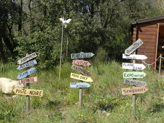 Le Village des enfants, panneaux des activités
