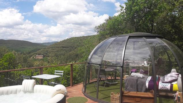 dome Cassiopée avec son jaccuzi privatif