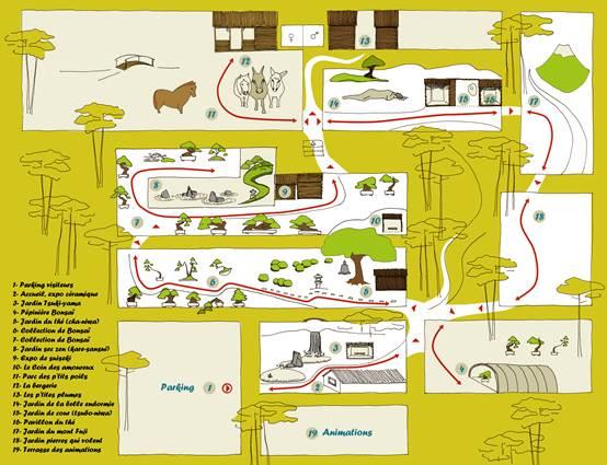Jardin Arboretum de Bonsai - Plan du Site