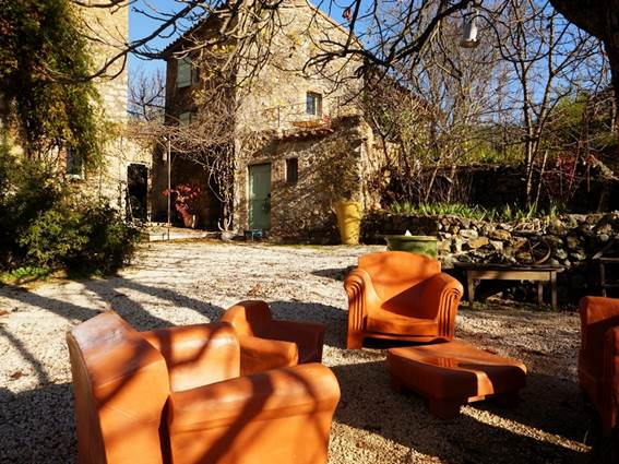 Gite La Clede location Anduze Gard terrasse sud
