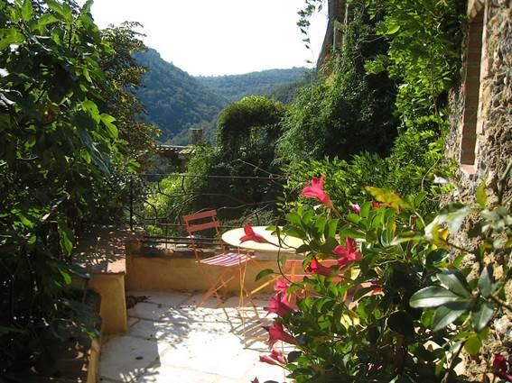 Gite La Clede location Anduze Gard terrasse ouest