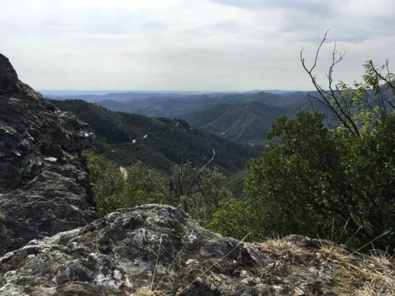 Signal de St Pierre : vue sur la vallée de St Jean du Gard