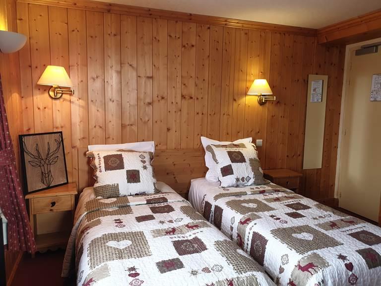 Chambre Twin vue montagne hôtel le mont Bisanne Crest-Voland
