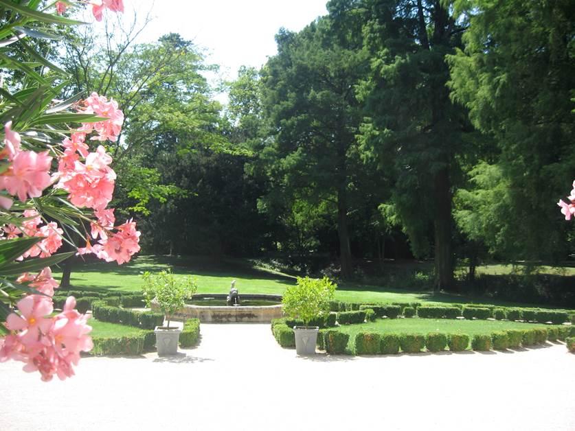 Château de Barrenques - vue du parc