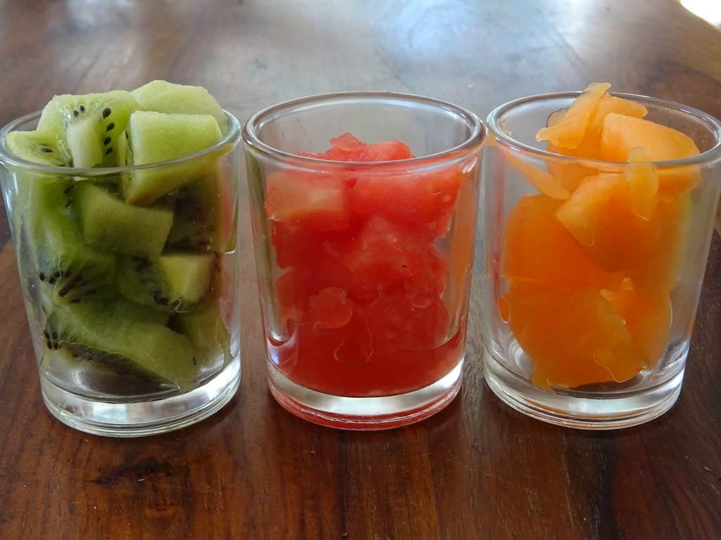 Les verrines sucrées de la table d'Eleusis