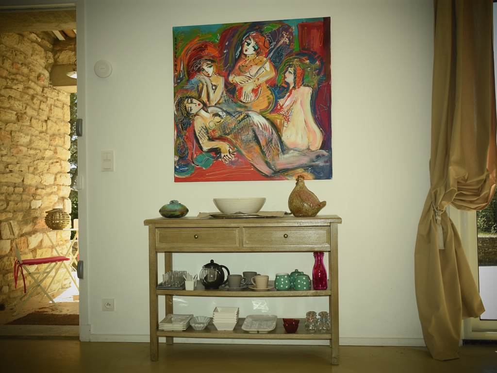 la salle à manger des jardins d'Eleusis