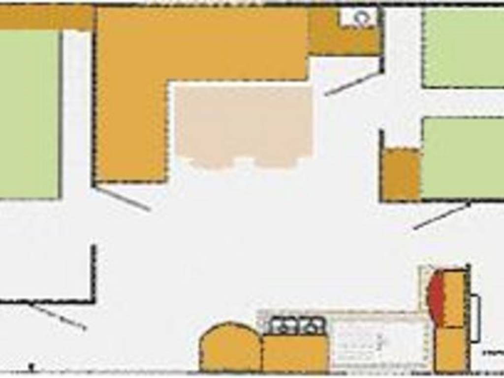 Plan mobil-home 4 places