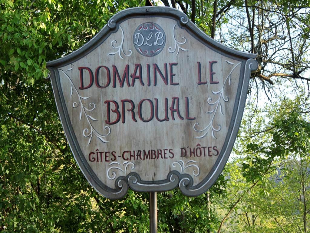 Panneau du Domaine le Broual