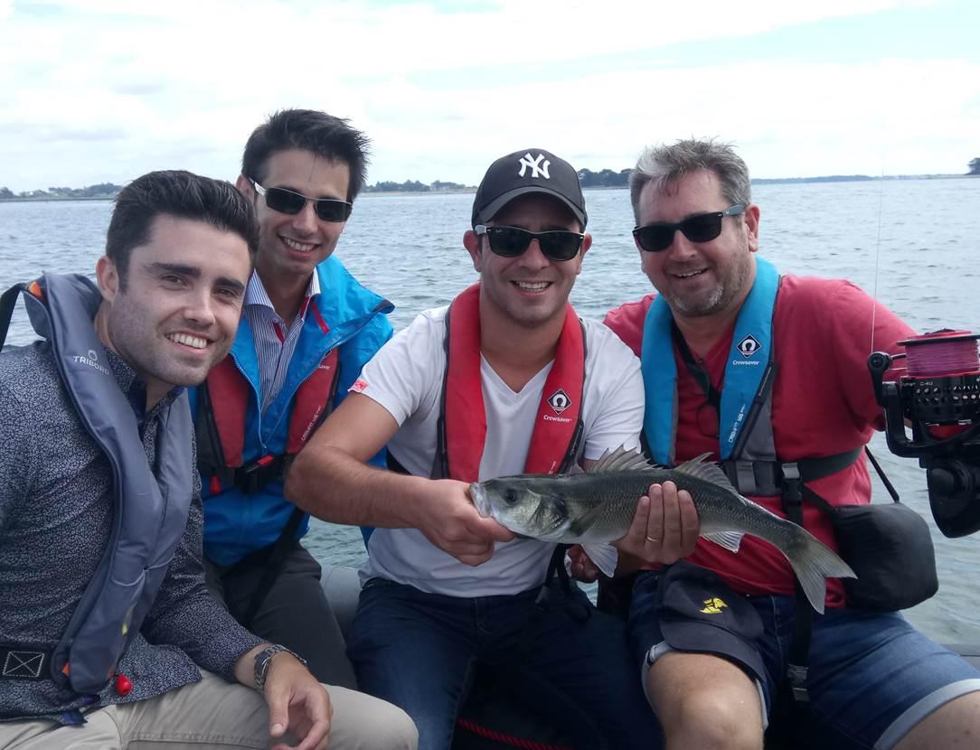 Sortie peche en mer à Sarzeau, au port du Logeo, avec Mickaël RIO comme guide de pêche !