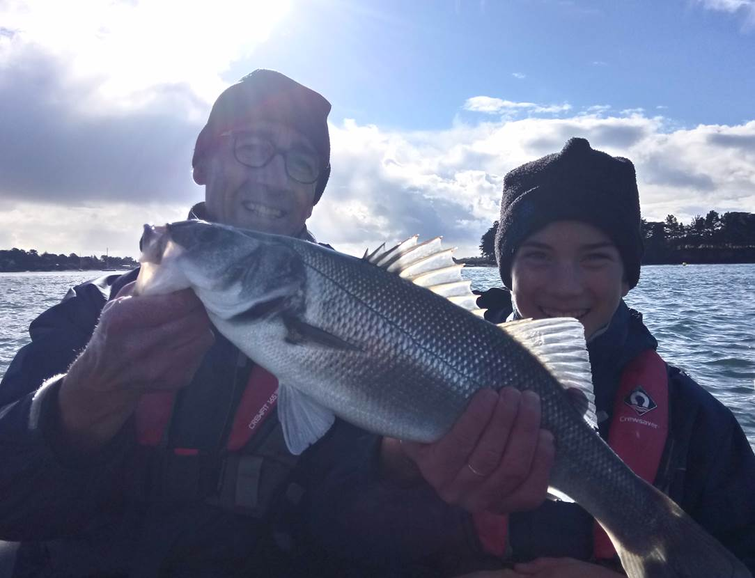 Une sortie pêche en mer réussie ! vive la pêche ! Vive le Golfe du Morbihan !