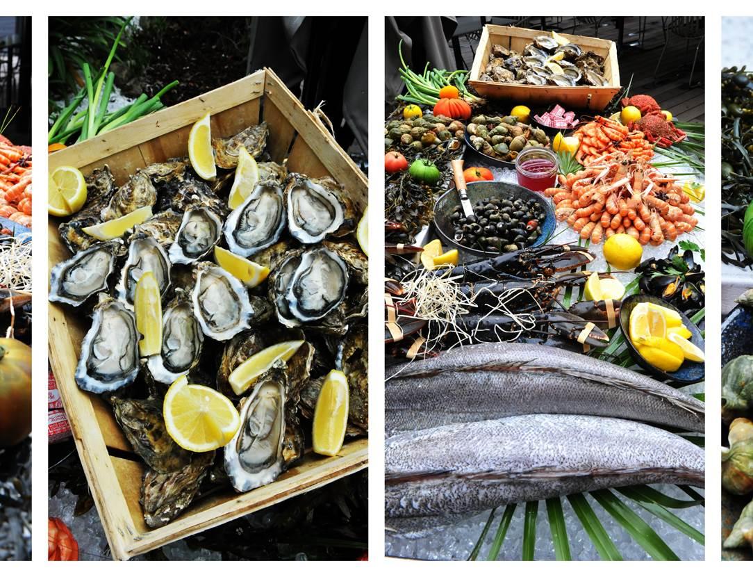 Banc ecailler restaurant La Brasserie Bleue