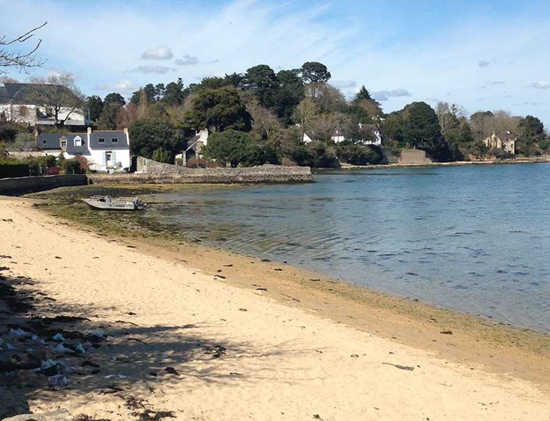 Plage Port Miquel-Ile-aux-Moines-Golfe-du-Morbihan-Bretagne sud