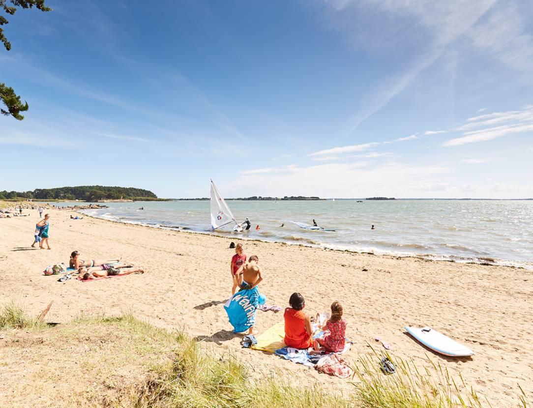 Plage Pointe du Bill-Séné-Golfe-du-Morbihan-Bretagne sud