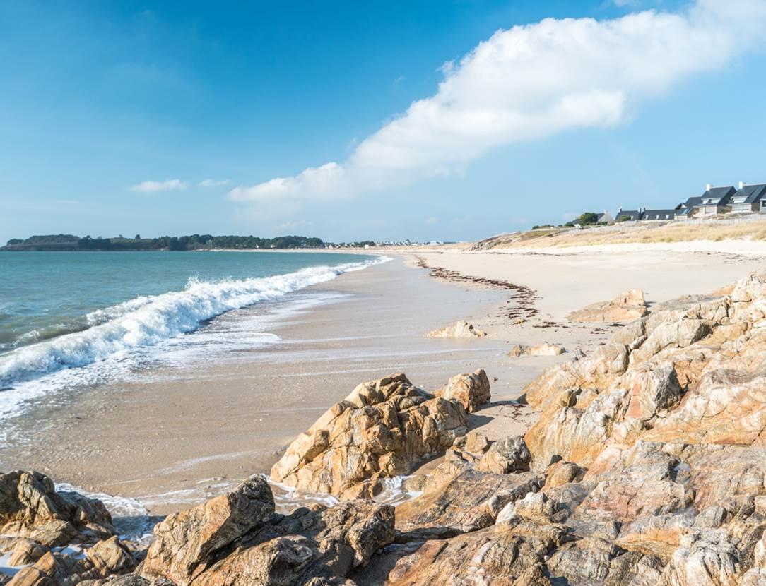 Plage de-Kerjouanno-Arzon-Presqu'île-de-Rhuys-Golfe-du-Morbihan-Bretagne sud