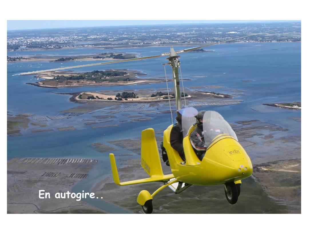 Paramoteur-Autogyre-Courant-d'Ailes-Sarzeau-Presqu'île-de-Rhuys-Golfe-du-Morbihan-Bretagne sud