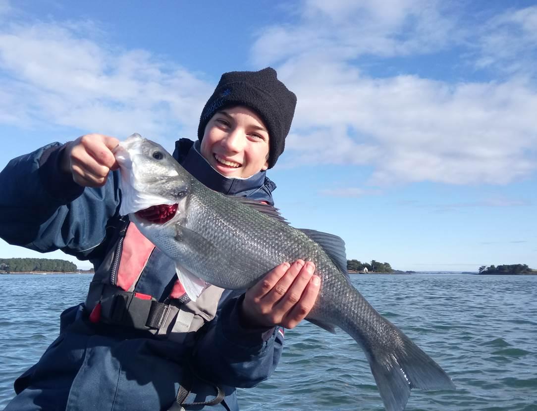 Le sourire de François-Xavier en dit long sur son état d'esprit lors de sa sortie pêche en mer