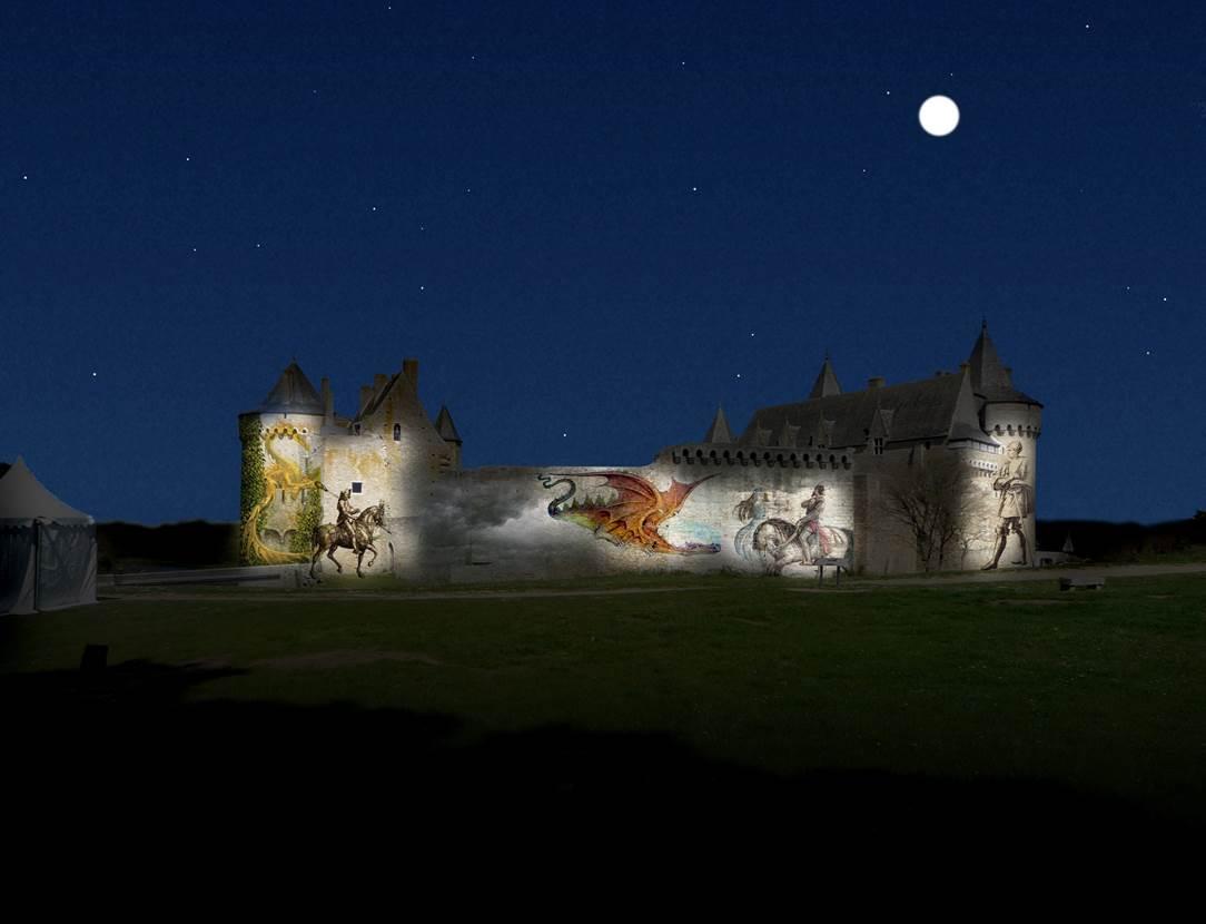 Spectacle-Nocturne-Château-Suscinio-Sarzeau-Morbihan-Bretagne Sud