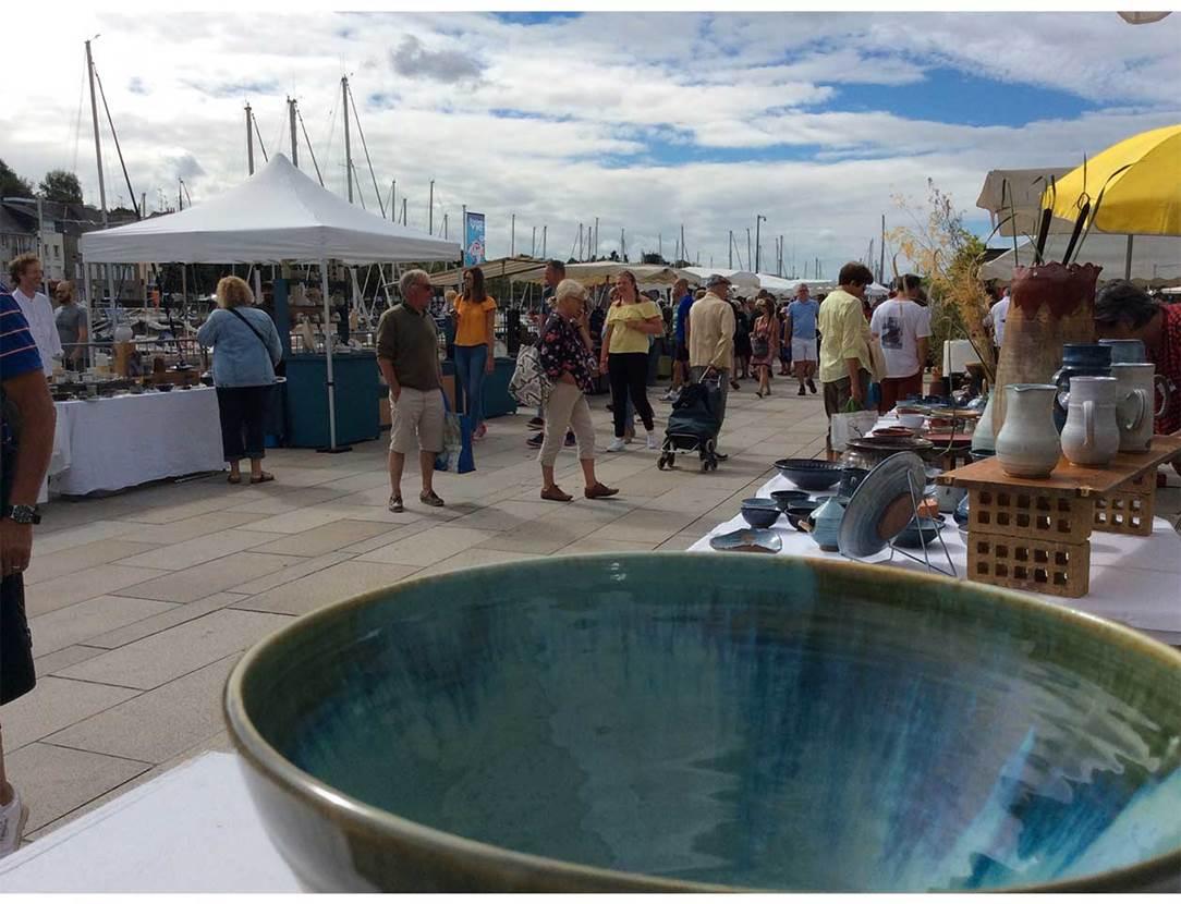 marché-l'été des potiers-escale céramique-vannes-golfe du morbihan-bretagne sud