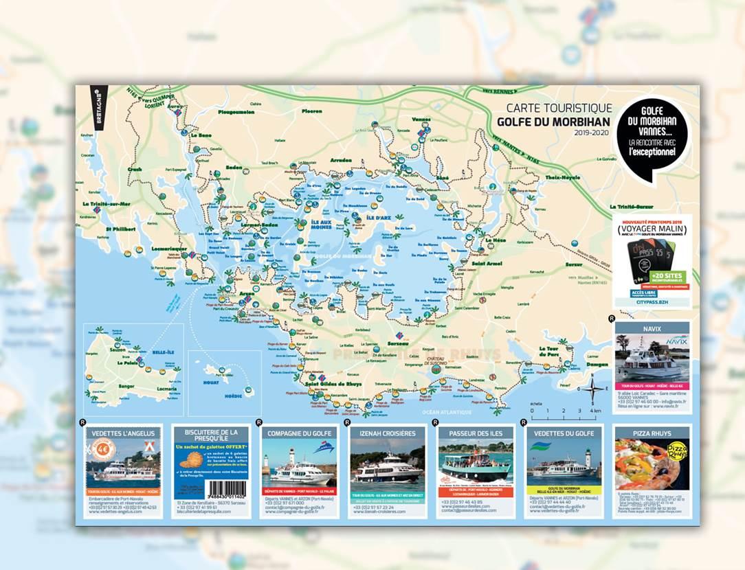 Carte Touristique Golfe du Morbihan