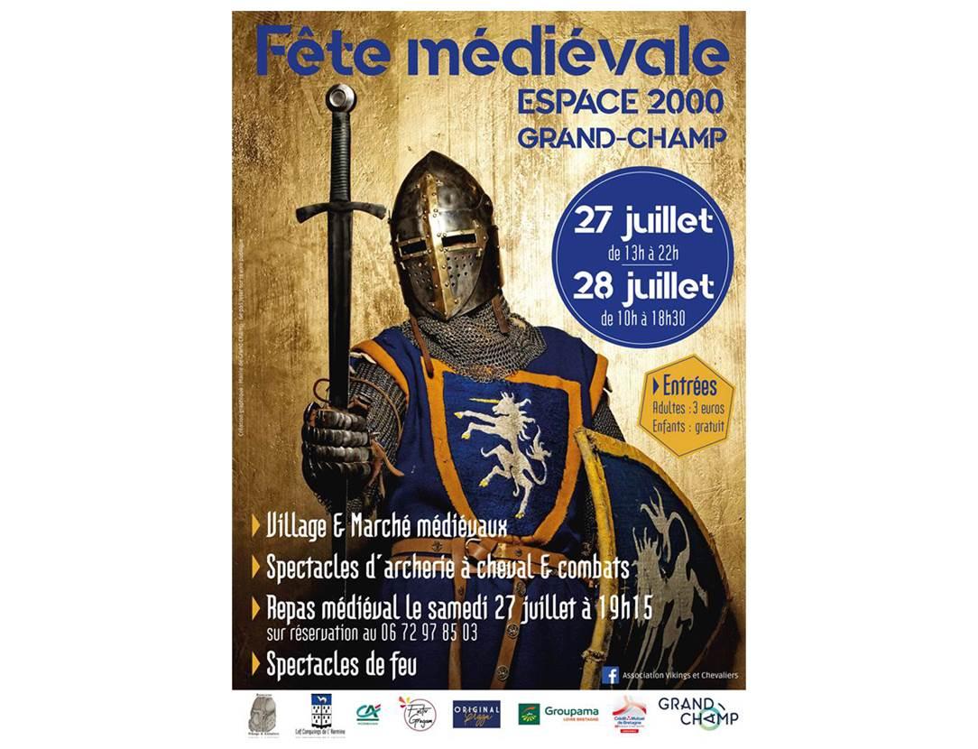 Affiche-Fête-Médiévale-Grand-Champ-Golfe-du-Morbihan-Bretagne sud