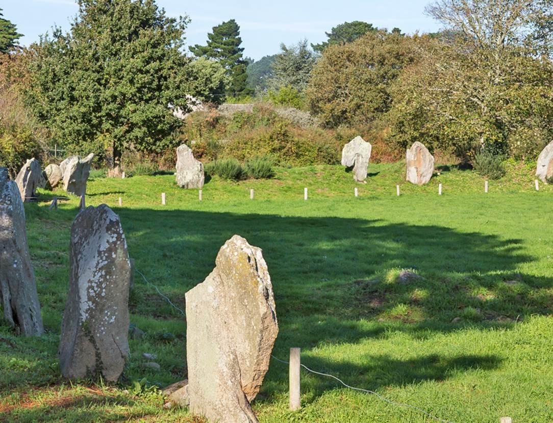 Enceinte mégalithique de Kergonan - iles aux moines - Morbihan Bretagne sud