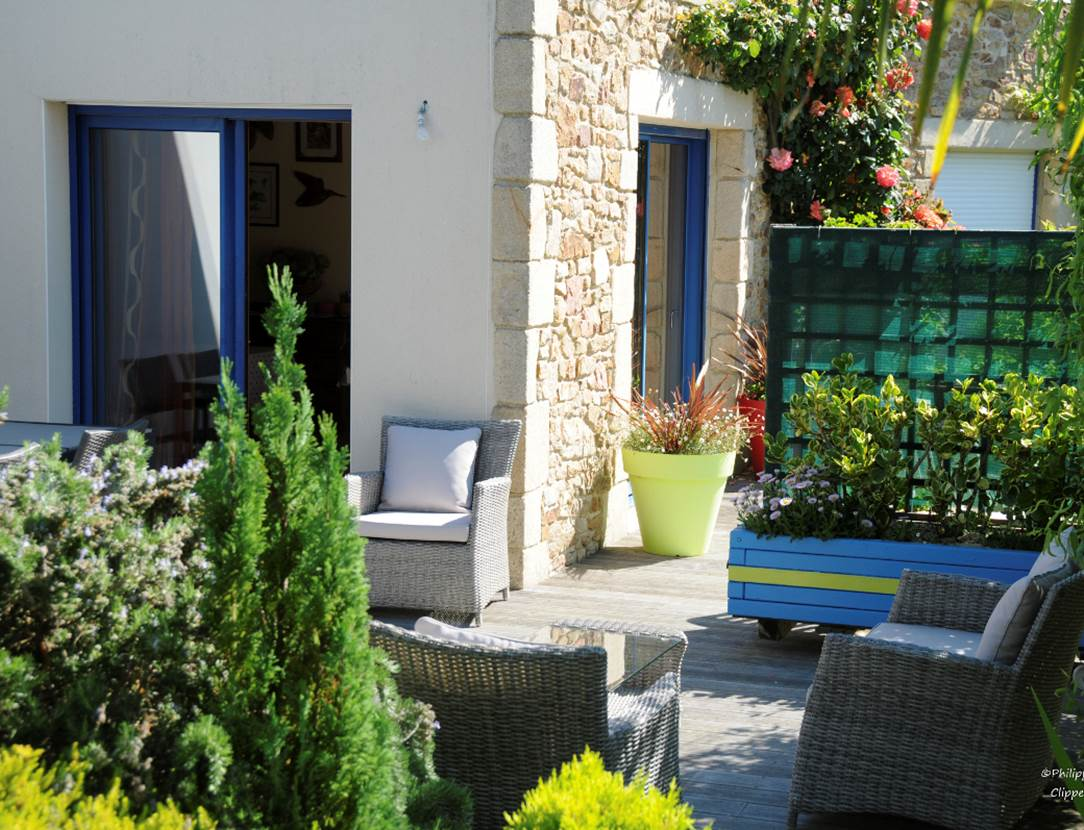 Terrasse-Chambre-Hôtes-Pedron-Armelle-Arzon-Presqu'île-de-Rhuys-Golfe-du-Morbihan-Bretagne sud