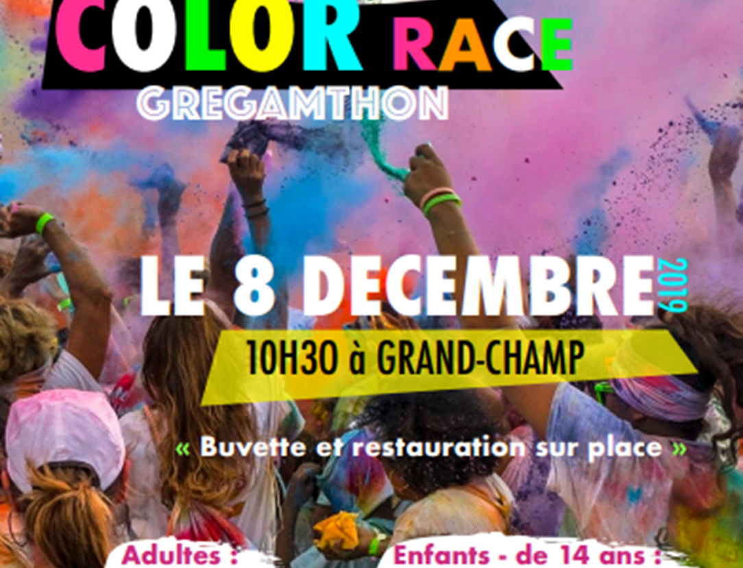 Color race gregamthon-Centre bourg-Grand-Champ-Golfe du Morbihan-Bretagne Sud
