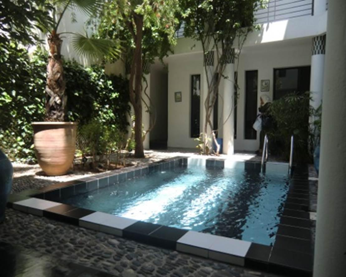 patio avec bassin chauffé