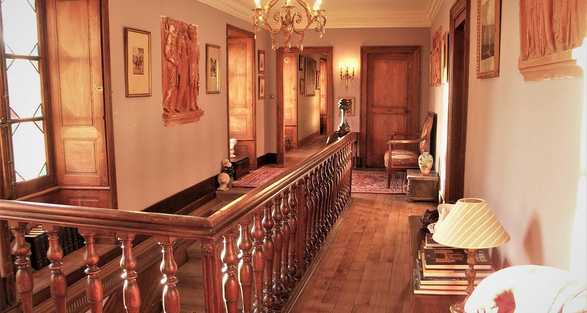 Chateau de Crocq, accès aux chambres.