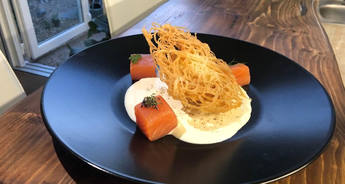 Oeuf mollet frit, saumon gravlax