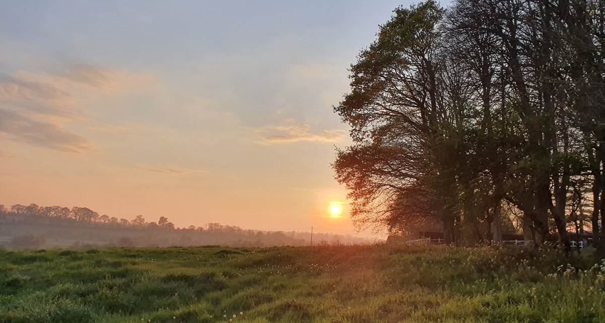 Coucher de soleil au Domaine de Houtteville
