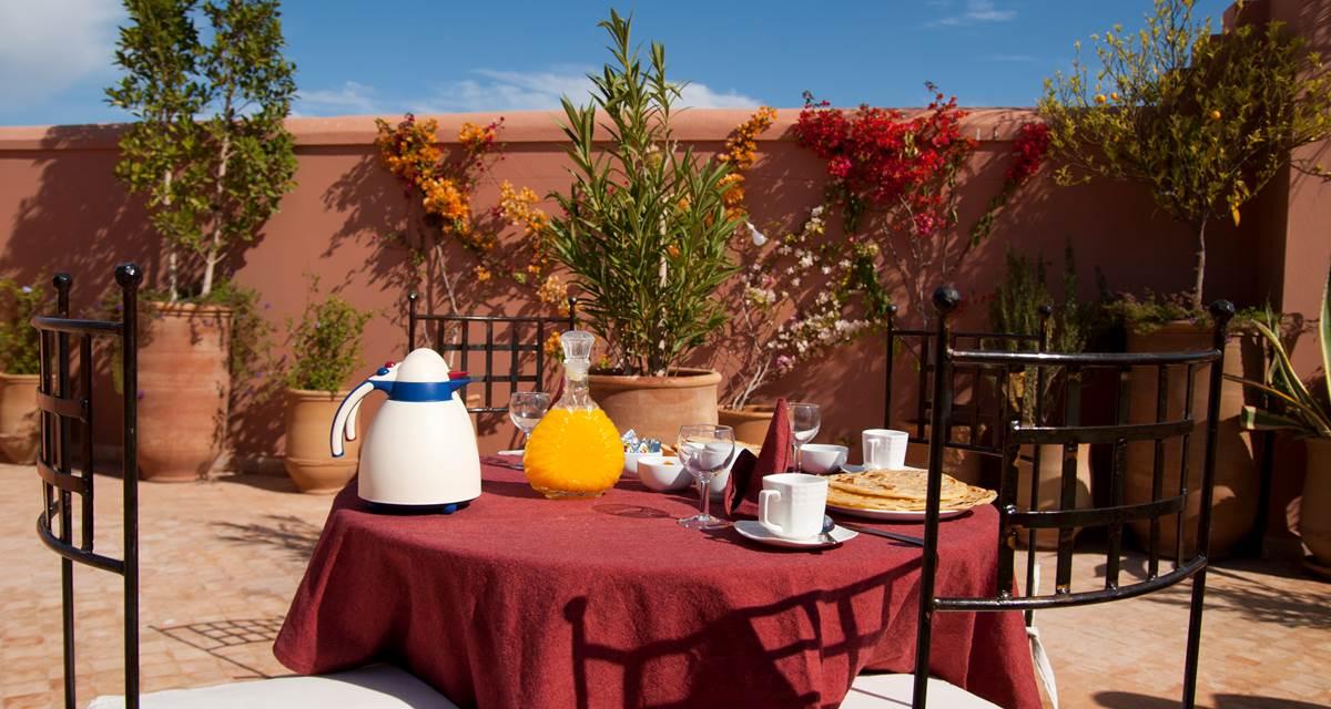 Riad Dar Foundouk & Spa Petit Déjeuner Terrasse